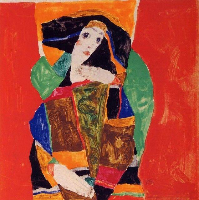Egon Schiele - Portrait of a Woman