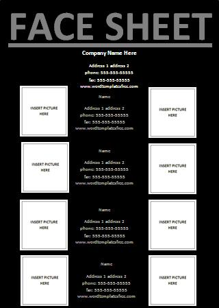 facesheet template