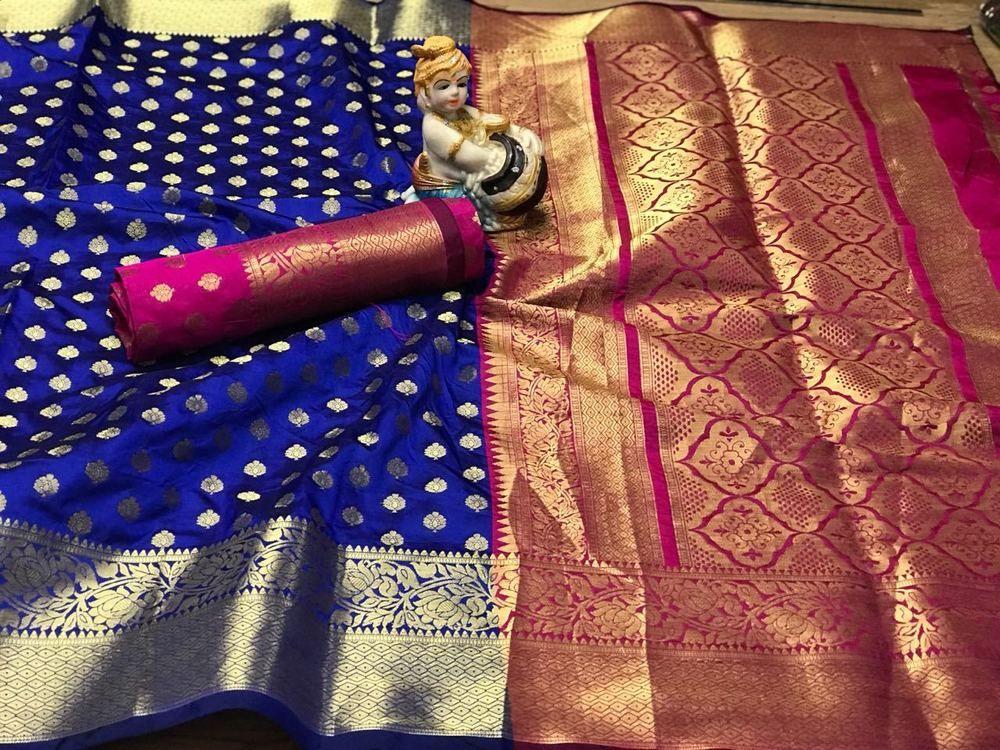 Rich pallu n rich heavy border Handloom banarasi silk saree with running blouse