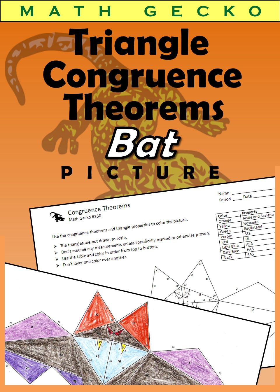 Fresh Ideas - 350 Triangle Congruence Theorems Picture (Bat) TpT