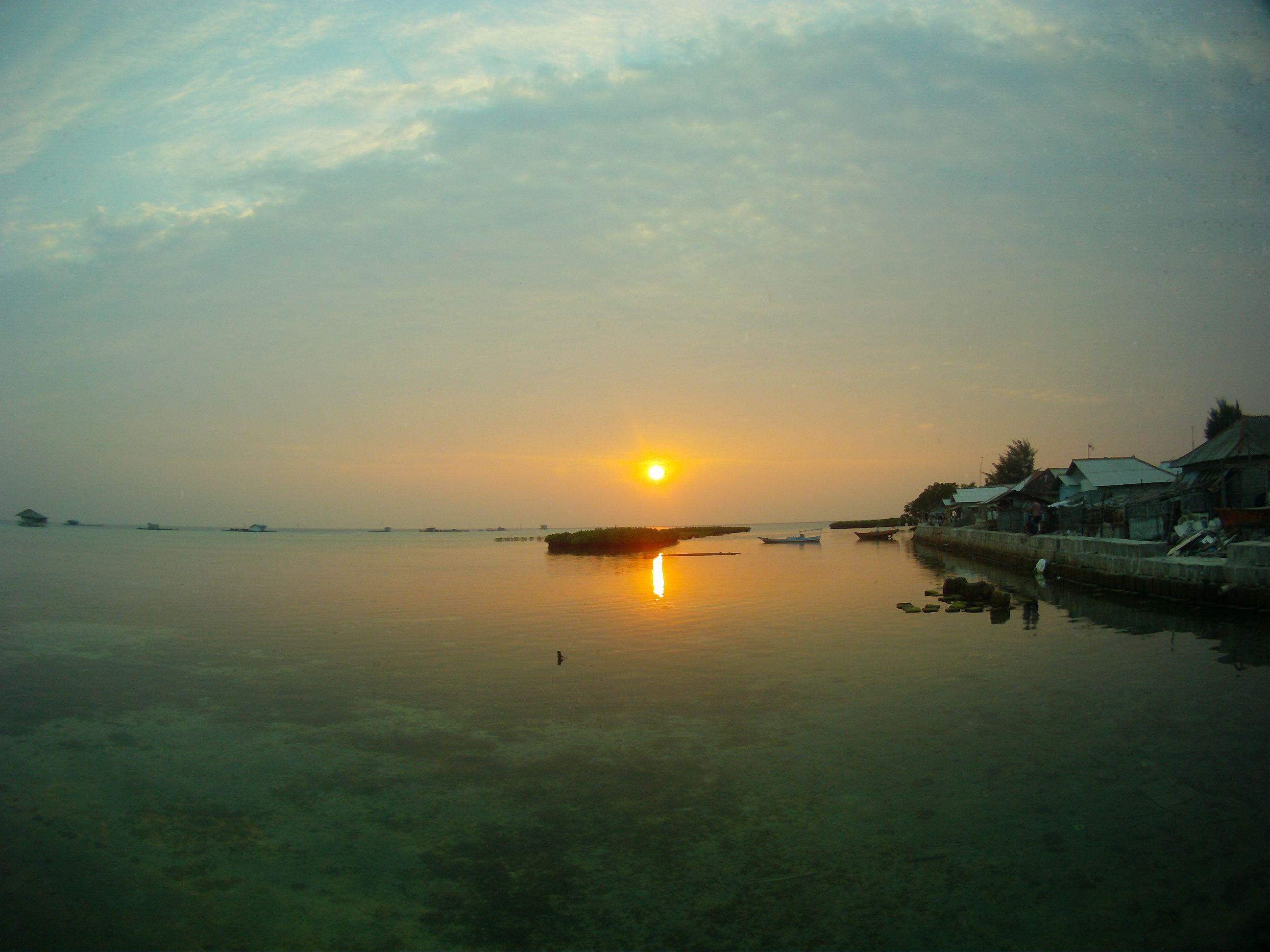 Sunrise on the Hope Island - Pulau Harapan - Indonesia
