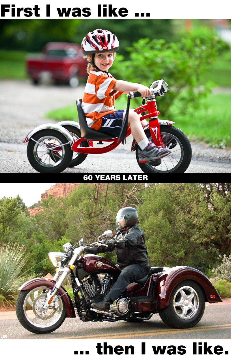 Trikes are for tykes. Motorcycle, Cars motorcycles, Vehicles