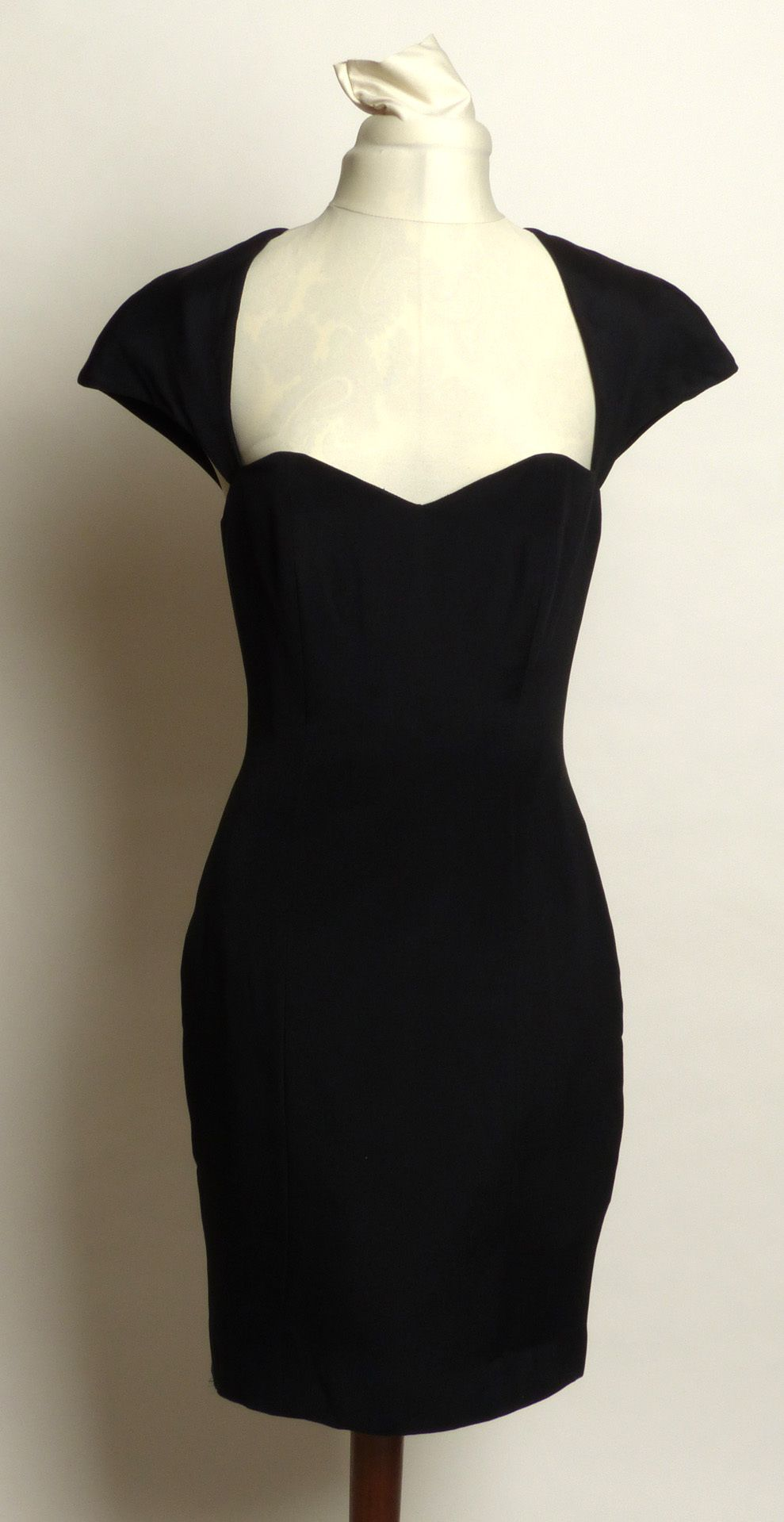 Perfect sexy Circa 1980s Ingrid Luhn Silk Cutout Little Black ...