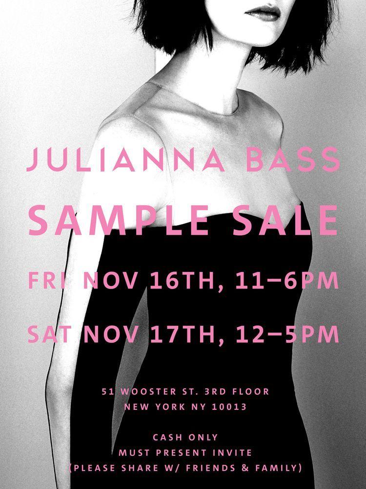 Julianna Bass Sample Sale Newyork Samplesale Juliannabass Sample Sale Julianna Bass Fashion Event