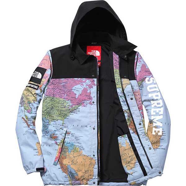 World Map Jacket | Supreme clothing, North face jacket ...
