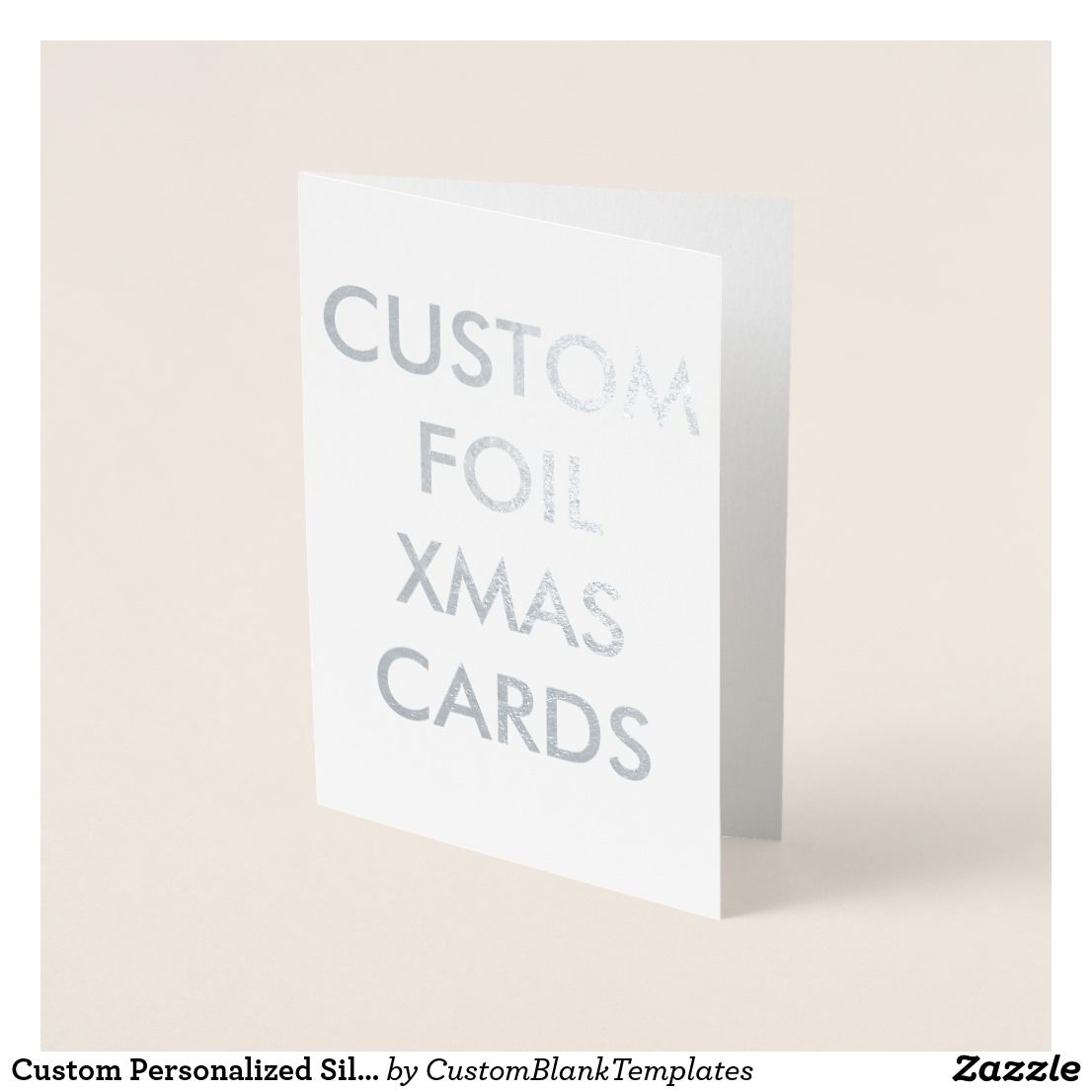 Personalized Silver Foil Chrismtas Card