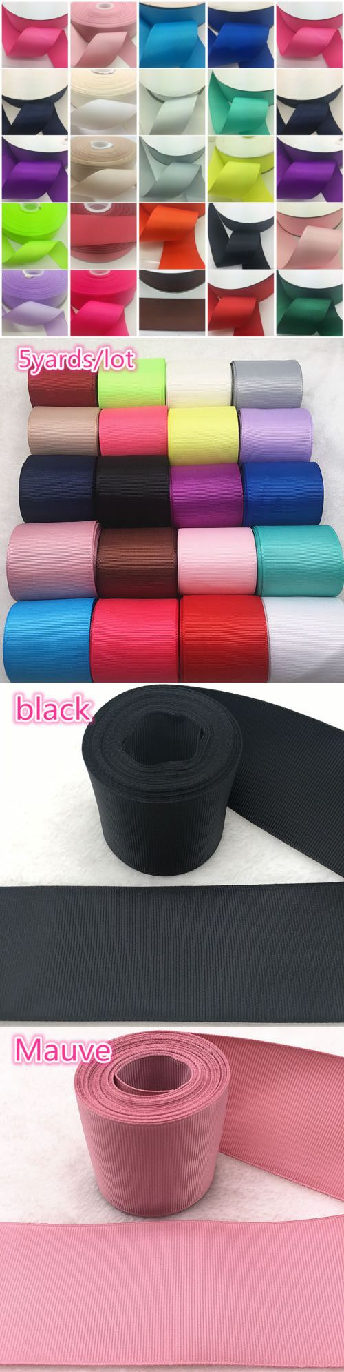 DIY 5 Yards 50mm 2 inch width Bow Ribbon Wedding Multi-purpose Crafts Red