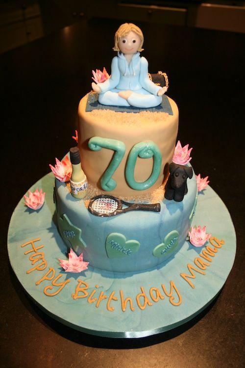 Yoga Themed Birthday Cake Healthy Inspiration via Meditation