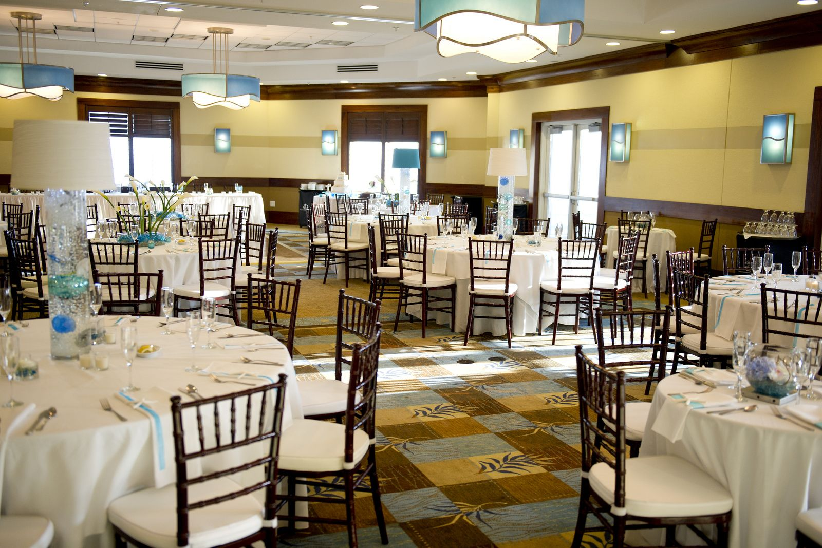 A Seaside Wedding Reception In The White Sands Room At Hilton Pensacola Beach Hotel