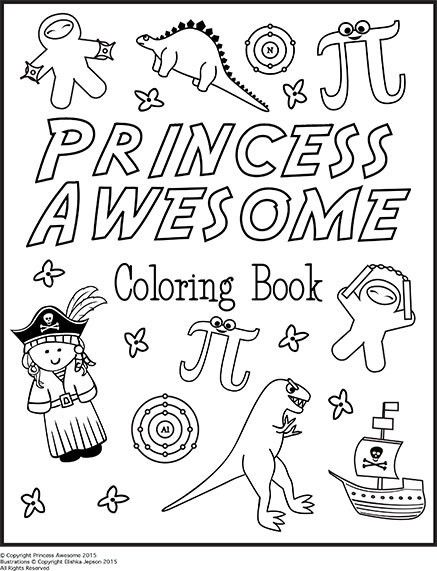 The Princess Awesome Coloring Book (downloadable