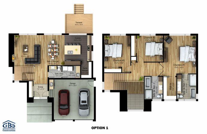 plan du modèle | my house 2 | pinterest | Étages, neuve et style ... - Plan Maison Deux Etages
