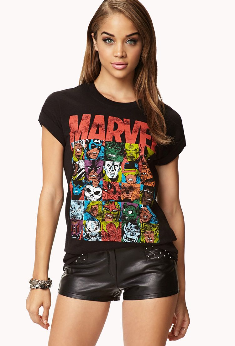 fc552d023 Marvel Comic Tee | FOREVER21 - 2077236888 | vogue in 2019 | Marvel ...