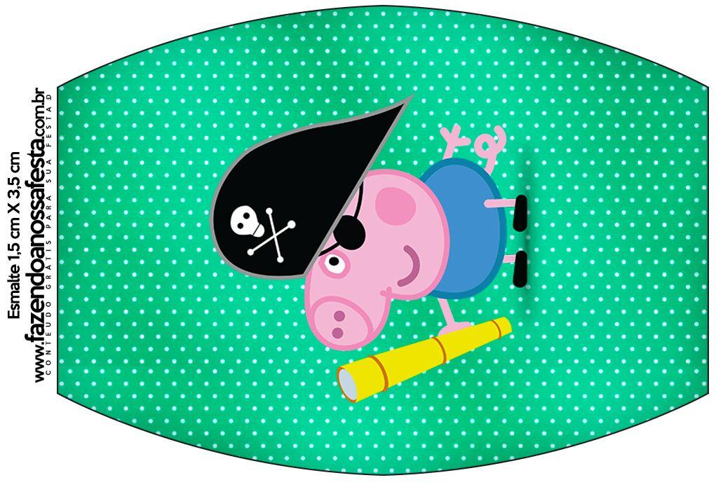 Rótulo Esmalte George Pig Pirata:
