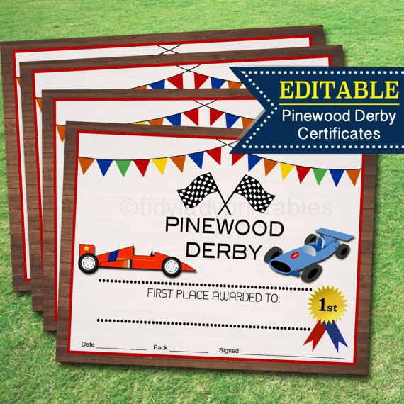 image about Free Printable Pinewood Derby Certificates referred to as Pin upon Pinewood Derby