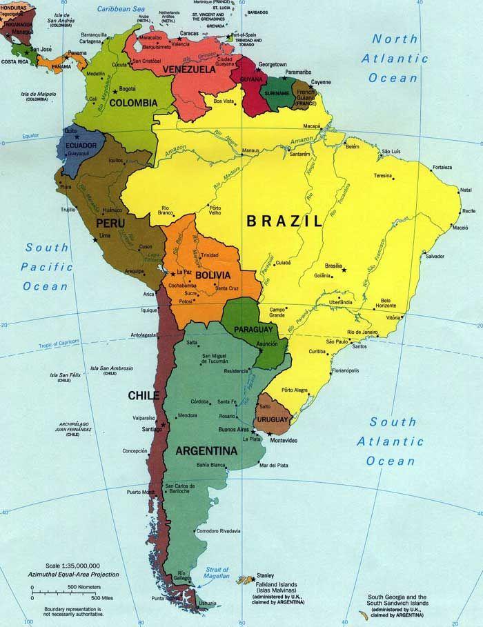 South America South America Map South America Travel Itinerary South America Travel