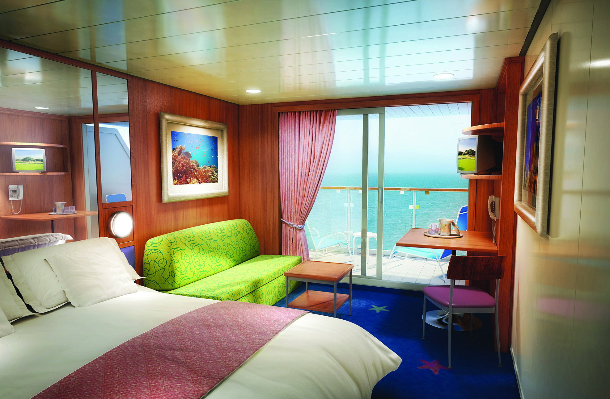 View Of A Room With A Balcony On Board The Norwegian Dawn