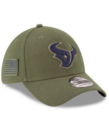 fab6c572517 New Era Houston Texans Salute To Service 39THIRTY Cap - Green L XL ...