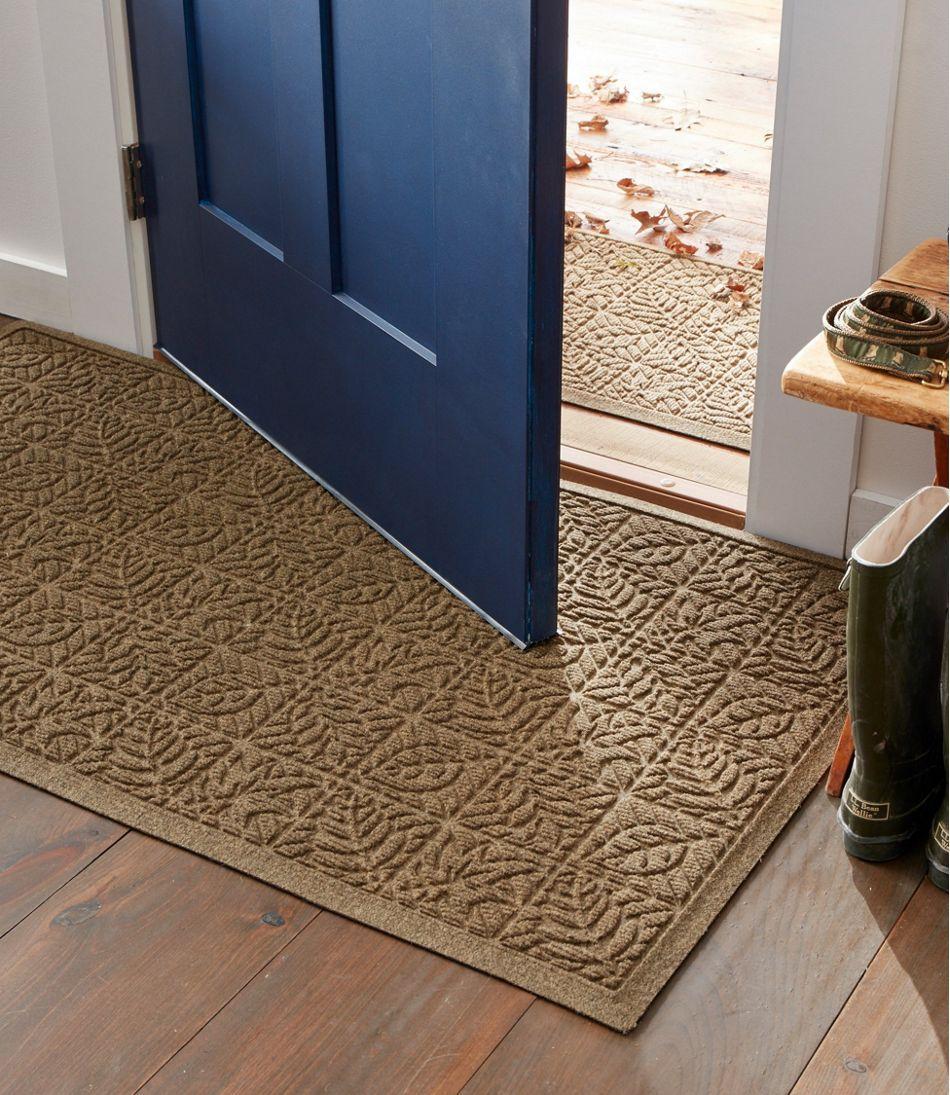 Heavyweight Recycled Waterhog Doormat Leaf Entryway Mat Indoor Large Door Mats Indoor Door Mats