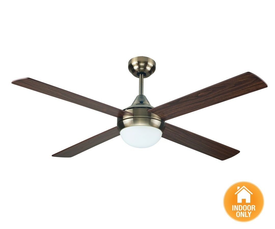 Airfusion Airlie Eco 132cm Fan And Light In Antique Brass