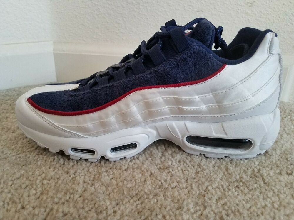 Nike Air Max 95 LX White Blue Red NSW Running Shoe AA1103