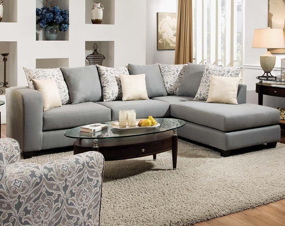 Splendor Gray 2 Pcsectional Sofa  Home Sweet Home  Pinterest Captivating Living Room Sectional Design Ideas Decorating Inspiration