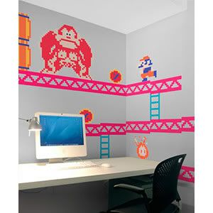 These 8-bit Nintendo decals are perfect for little gamersu0027 bedrooms. (Or  sc 1 st  Pinterest : nintendo wall decal - www.pureclipart.com