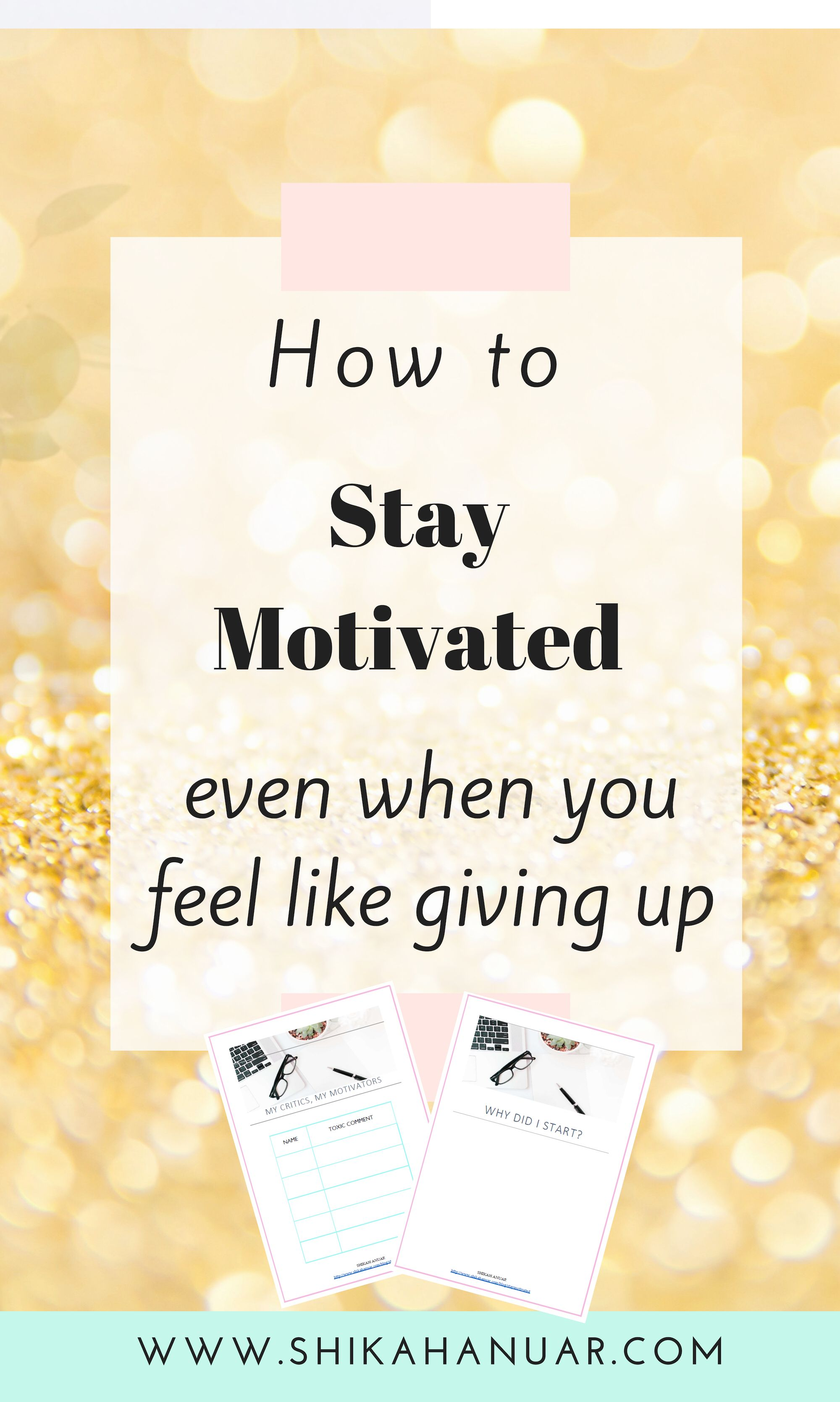 Free Printable 4 Strategies To Stay Motivated Amp Keep A