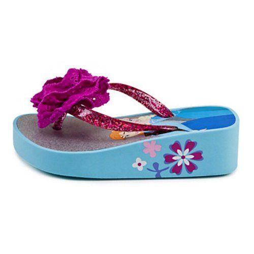 NEW Girl Frozen Flip Flops Small 11-12 Sandals Disney Princess Elsa Anna Shoes