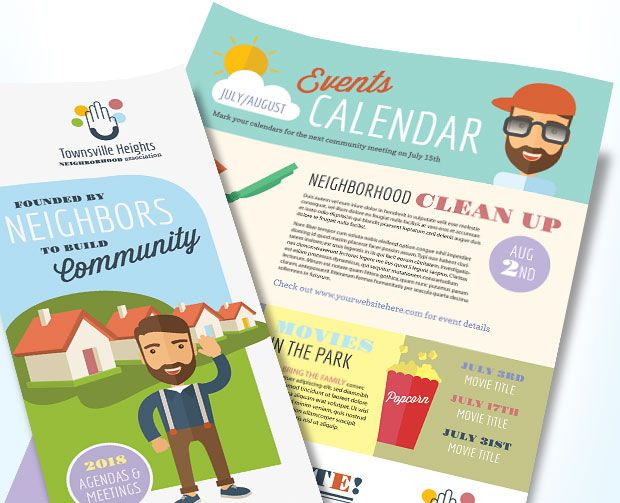 homeowners association marketing hoa newsletter brochure flyer design ideas