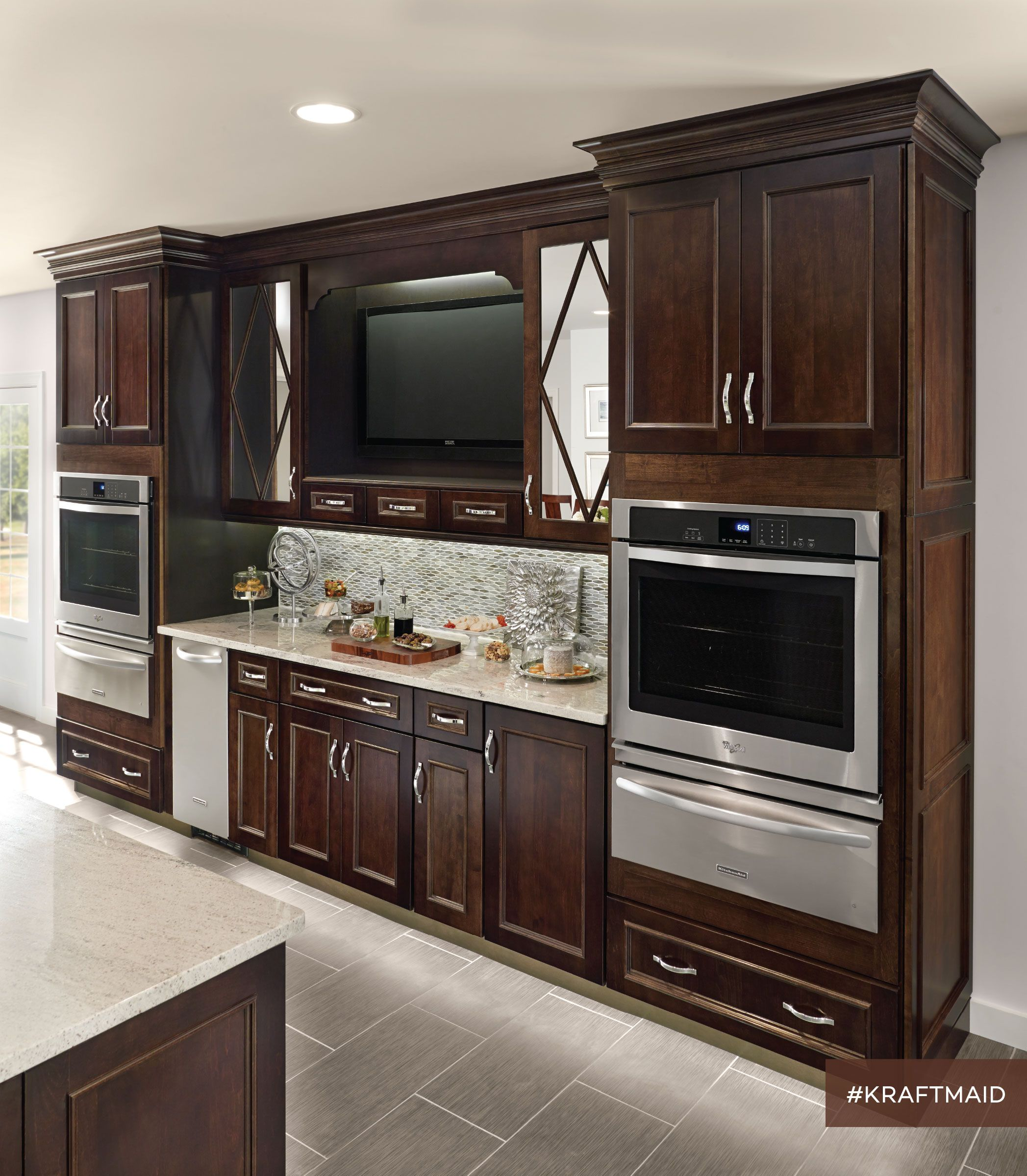 Ace kitchen direct cabinets - Shenandoah Cabinetry Kitchen In Dominion Cherry Chocolate Cherry Cabinets Pinterest Kitchens