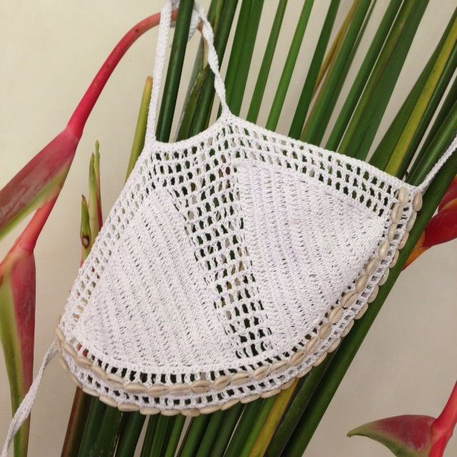 Image of Cowrie crochet bralette | top | Pinterest