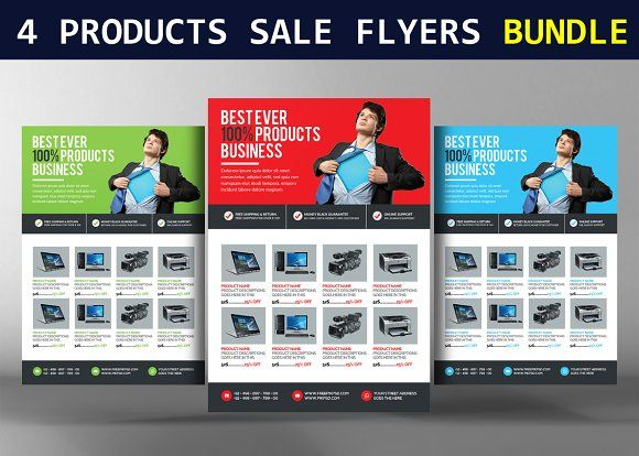 Products Sale Flyers Bundle Creativework  Templates