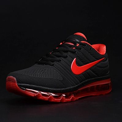 c707019762 Nike Air Max 2017 Black Red Tick Women Men Latest Shoes