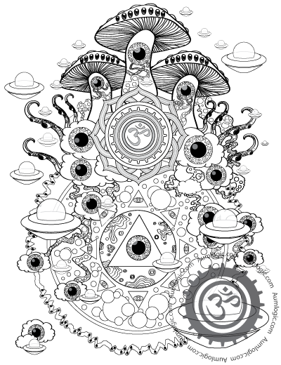 psychedelic coloring pages printable - psychedelic mushroom coloring pages magic mushroom colorin