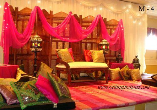 Mehndi Stage Decoration Dailymotion : Cute mehndi tent stage decor my future wedding