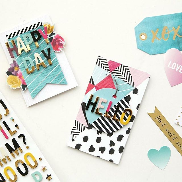 Today on the blog Eva shares how to make this darling card set with the #BannerPunchBoard and the #UrbanChicCollection. We just love how she used banners on her cards! Click link in profile for details! . @evapizarrov #cardmaking #happyday