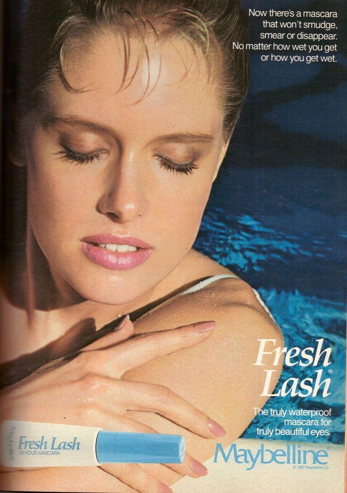 1987 maybelline cosmetics makeup magazine print ad vintage
