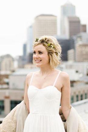 20 Peinados Para Novias Con Pelo Corto En 2018 Novia Pinterest - Peinados-para-novias-pelo-corto