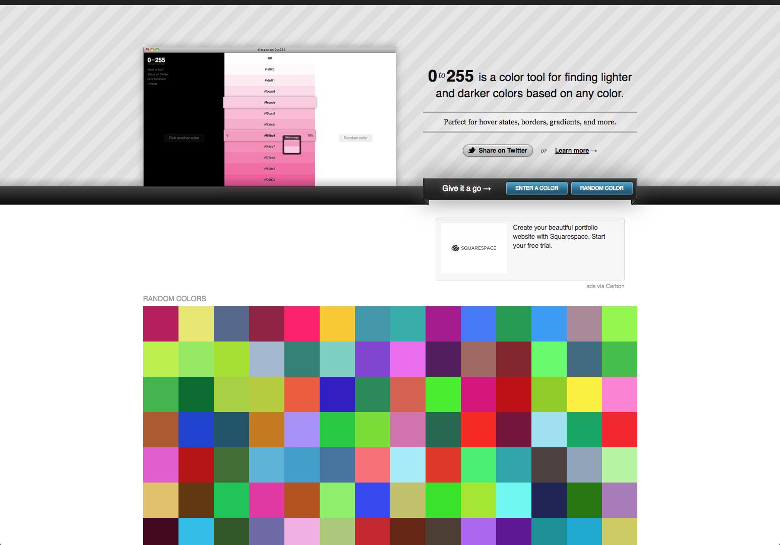 0to255 Color Picker Print Design Color
