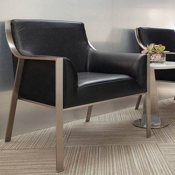 Bellini Modern Living Malibu Black Leather Accent Chair Malibu