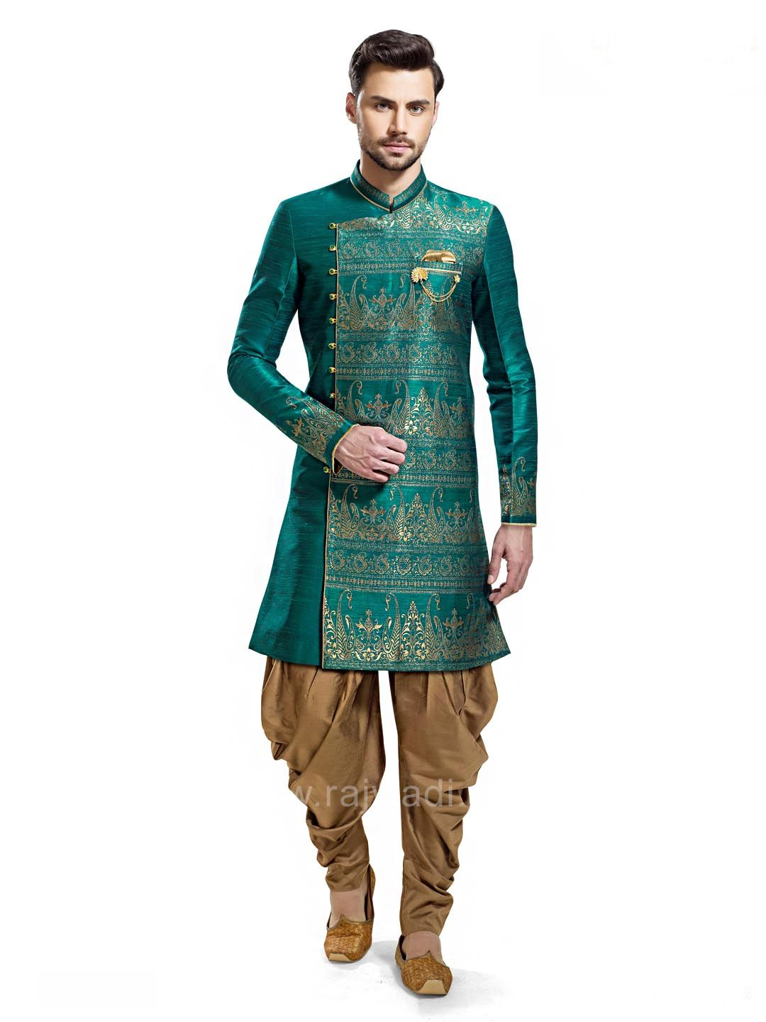 Keep it stylish and classy with this long sleeved green patiala suit