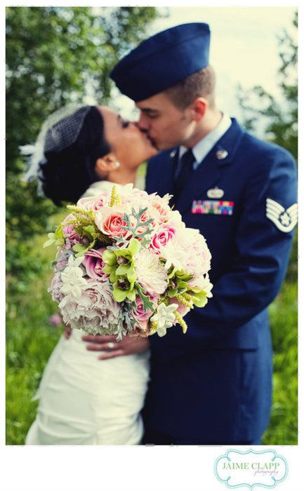 Airforce Uniform Pretty Awesome For Civil Wedding