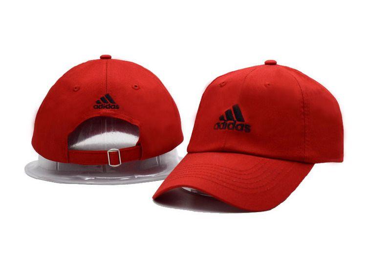 b204f76d62 Men s   Women s Adidas The Tripple Stripes Logo Adjustable Dad Hat - Red    Black