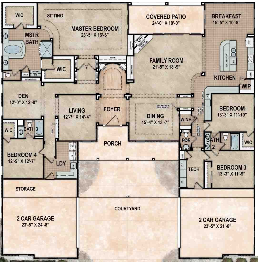 ventana model east villas at toscana new homes in phoenix beazer - Lake Ridge Beazer Homes Floor Plans