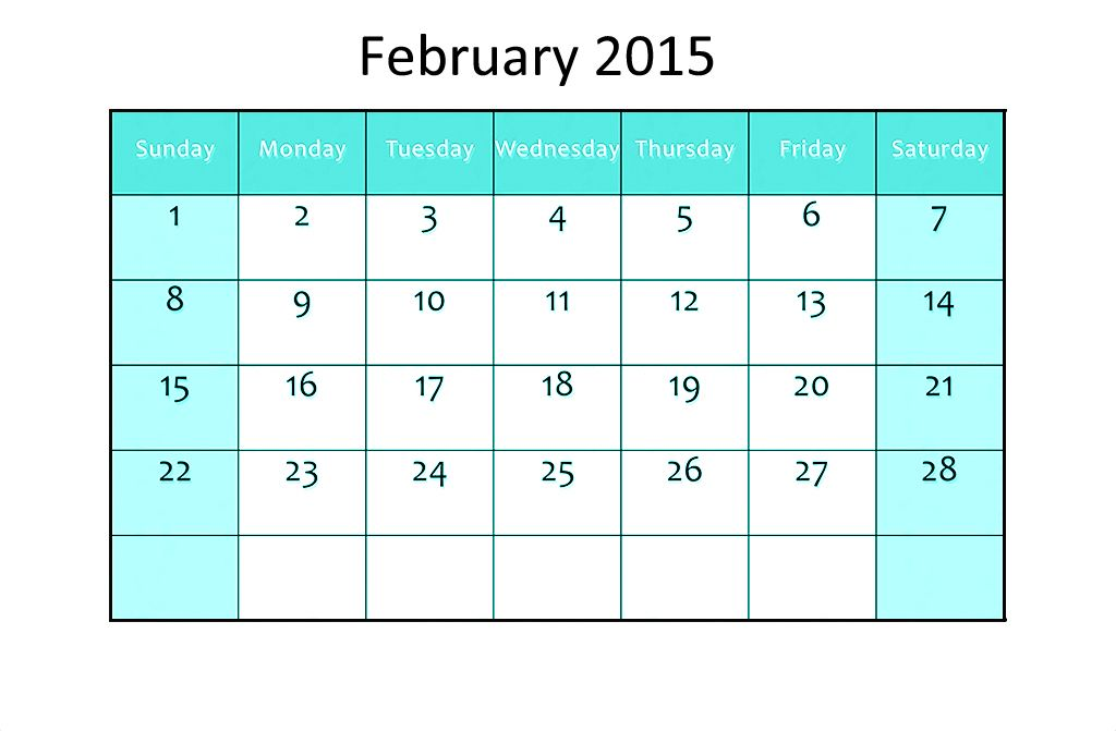 Download Calendar February 2015 Printable Templates Designs Blank