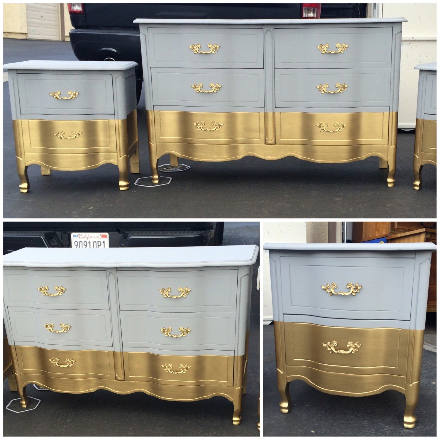 Sample Six Drawer French Provincial Dresser Nightstands
