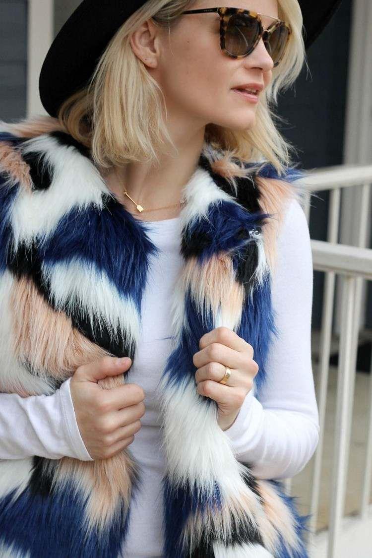 Gilet fausse fourrure - conseils et astuces pour le porter avec style et grâce #fashion #style #ideas