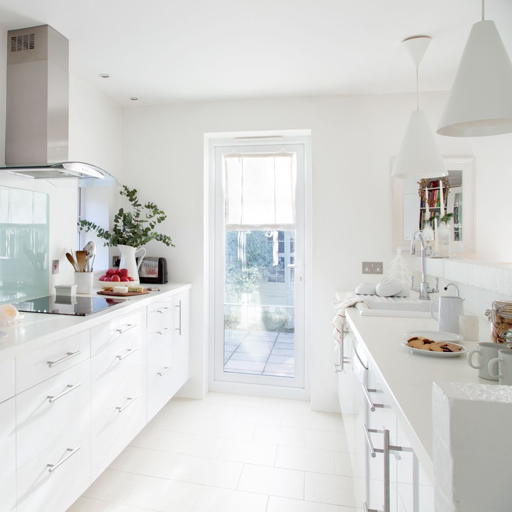 Small Galley Kitchen Design Uksmall Galley Kitchen Design Uk With Images White Galley Kitchens Small Galley Kitchens