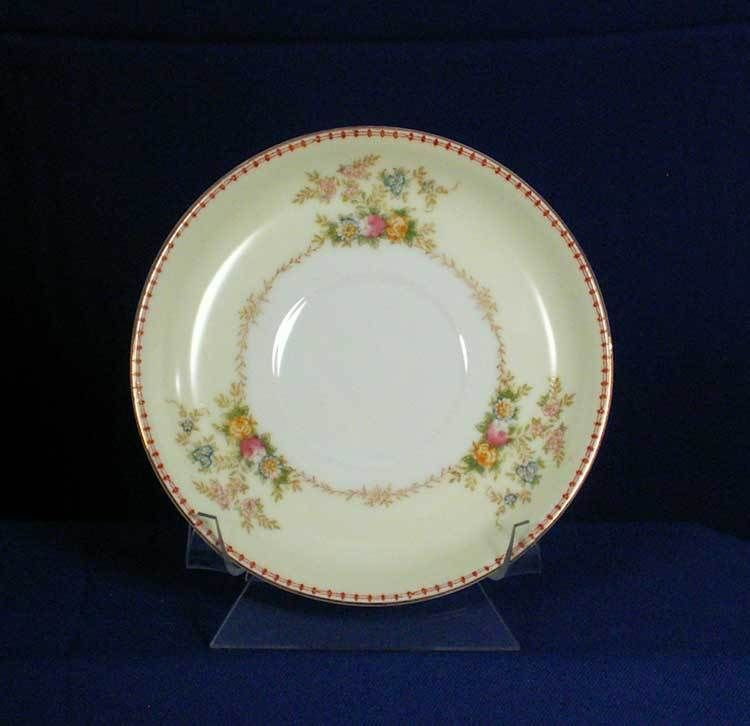 Meito Japan Pattern Marjorie White Cream Soup Saucer bfe2308 #Meito