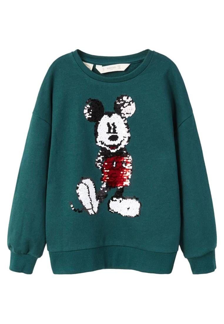Mango Sweatshirt Vert Fonce Fit Regular Outer Fabric Material 100 Cotton Care Instructions Machine Wash Sequined Sweatshirt Sweatshirts Blue Sweatshirt